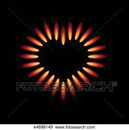 gas stove flame clipart. clip art - vector gas stove with red flames . fotosearch search clipart, illustration flame clipart