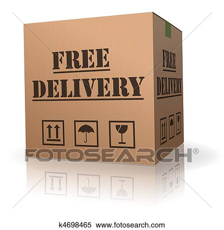 Stock Illustration Of Free Package Delivery Order Shipment