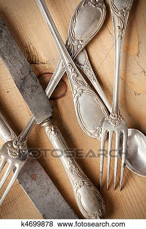 Pictures Of Old Cutlery K4699878 Search Stock Photos