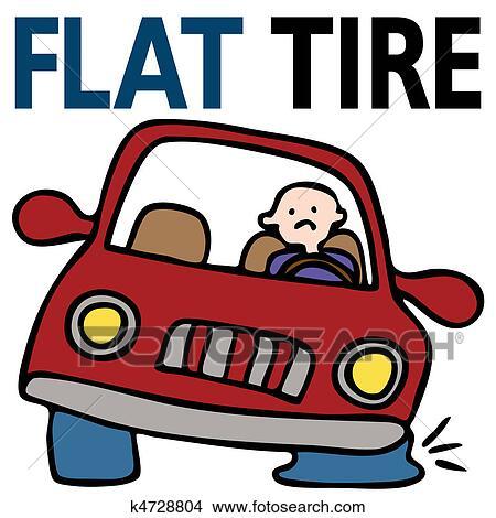 Search photos clip-art  Flat Tires Cartoon Hands