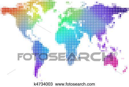 手绘图 - 世界地图, 描述