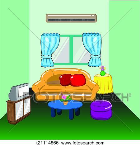 Clip art abbildung von a wohnzimmer k21114866 suche for Wohnzimmer clipart