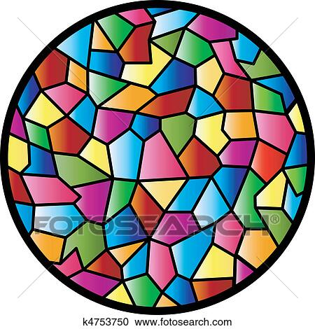 Clipart of stained glass circular window k4753750 search for Window design clipart