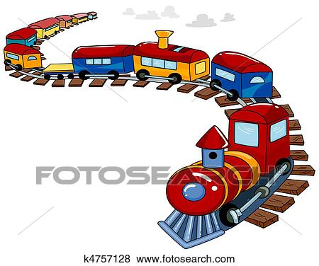 Drawing of Kids Train k1425823 - Search Clipart, Illustration ...