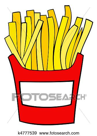 clip art of french fries k4777539 search clipart illustration rh fotosearch com french fries clip art free french fries clip art images