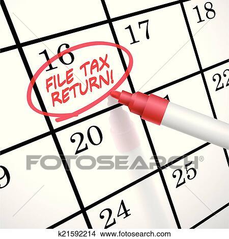 File Tax Return Clip Art