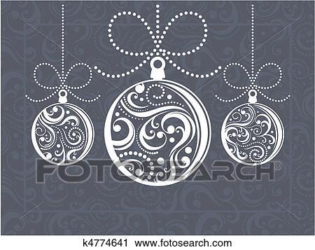 clipart weihnachten kugeln glueckwunschkarten k4774641. Black Bedroom Furniture Sets. Home Design Ideas