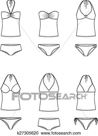Clipart costume da bagno k27305620 cerca clipart - Mutande da bagno ...