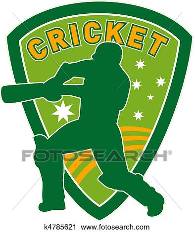 Clipart of cricket sports player batsman bat k4785621 - Search ...