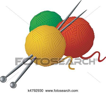 Knitting Clip Art and Illustration. 5,619 knitting clipart vector ...