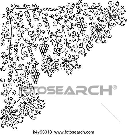 丰收简笔画图片大全-剪贴画 水果, 葡萄树, 葡萄饰, CCLII