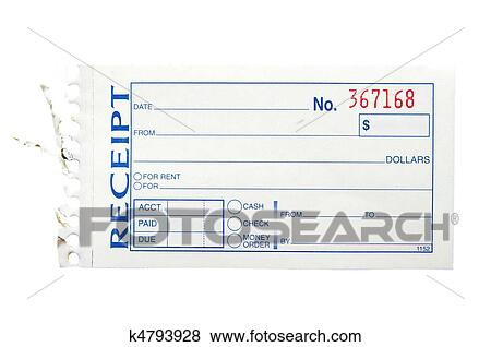 Pictures of blank generic paper receipt, on white k4793928 ...
