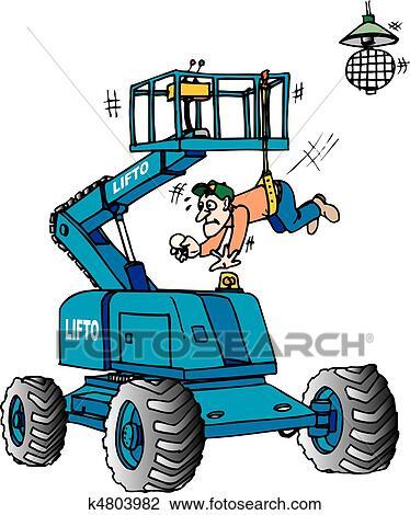 Clipart Of Boom Lift K4803982