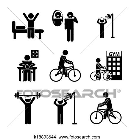 Clipart Daily Routine