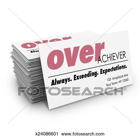 Clipart of over acheiver words business cards always exceeding clipart over acheiver words business cards always exceeding expectations fotosearch search clip art colourmoves Images