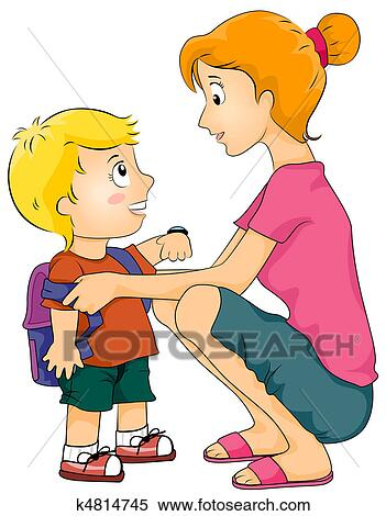 Clipart of Getting Dressed Up u11559531 - Search Clip Art ...