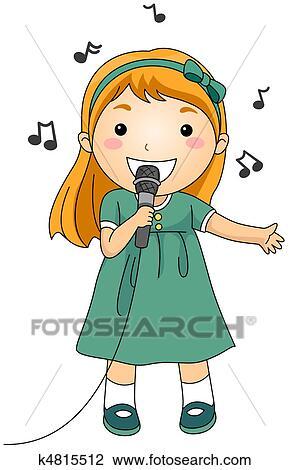 child singer clipart - photo #8