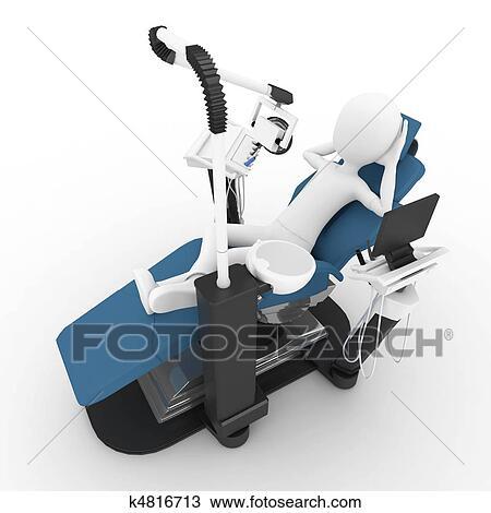 Dessin 3d homme chaise dentiste k4816713 for Chaise 3d dessin