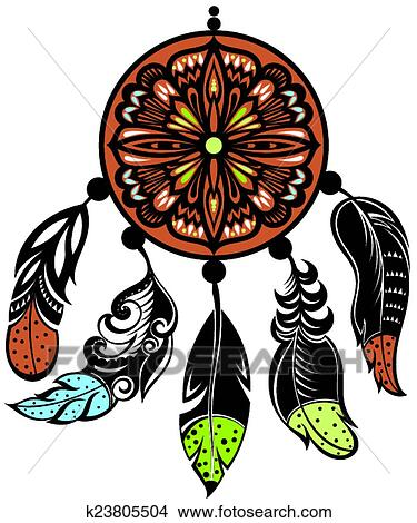 Clipart of dream catcher protection k23805504 search for Dream catcher graphic