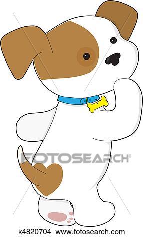 手绘图 - 漂亮, 小狗