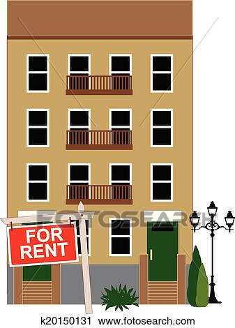 Apartment Building Graphic clipart of apartment for rent k20150131 - search clip art