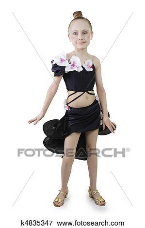 Beeld klein meisje het dansen k4835347 zoek stock fotografie foto 39 s prints beelden en - Foto slaapkamer klein meisje ...