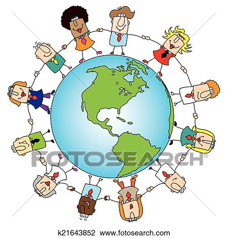 clipart of teamwork around the world k21643852 search clip art rh fotosearch com teamwork clip art quotes teamwork clip art images