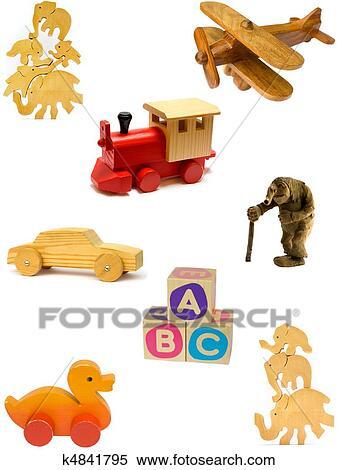 Banque d 39 image collection de vendange et fait maison jouets bois - Collection fait maison ...
