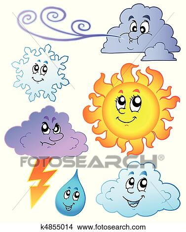 剪贴画 卡通漫画, 天气, 形象