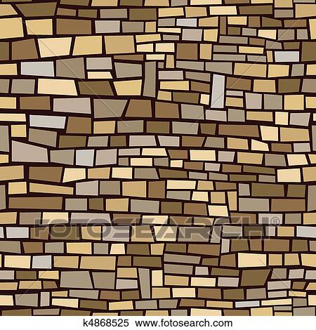 Clipart of Brown Brick Background k4868525 - Search Clip Art ...