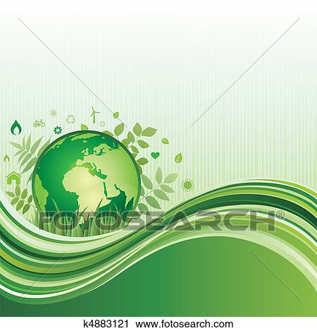 Clipart of green environment background k4883121 search for Environmental graphics giant world map wall mural
