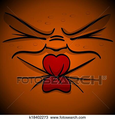Pucker Face Clipart Sour Squint Pucker Face