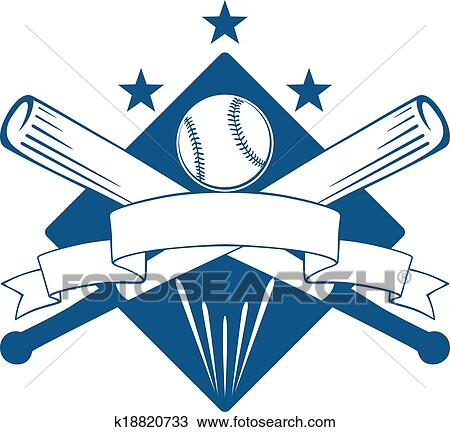 Clipart of Championship or league baseball emblem ...