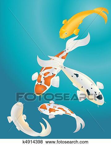 Clip art carpa koi k4914398 cerca clipart poster for Carpa giapponese prezzo