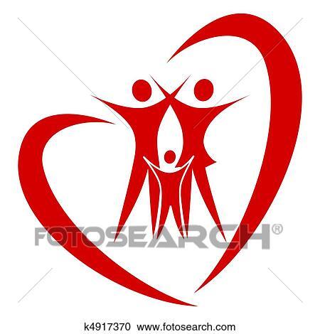 Clipart cuore famiglia vettore k4917370 cerca for Clipart cuore