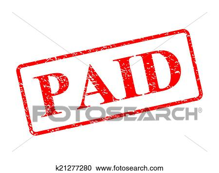 stock illustrations of paid red stamp k21277280 search clipart rh fotosearch com clipart paid in full stamp pain clip art