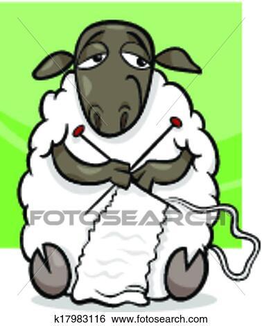 Clipart tricot mouton dessin anim illustration - Mouton dessin anime ...