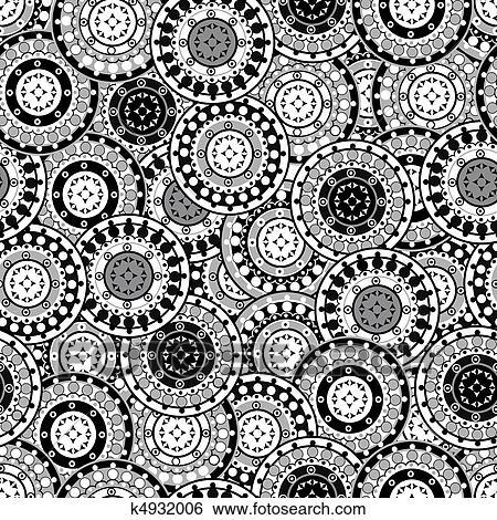 stock illustration seamless muster mit schwarz wei orientalische motive k4932006 suche. Black Bedroom Furniture Sets. Home Design Ideas