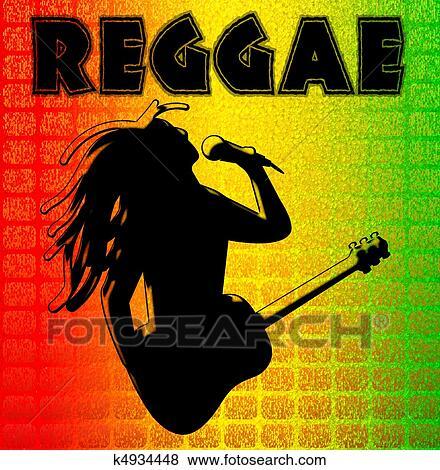 Stock Illustration - Reggae Background Illuustration. Fotosearch ... Cool Rasta Lion Pictures