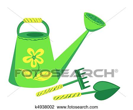 Clipart of garden tools k4938002 search clip art for Gardening tools clipart