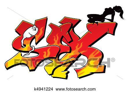 clipart of sexy graffiti k4941224 search clip art illustration rh fotosearch com Gender Clip Art safe sex clipart