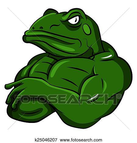 clip art of frog strong mascot k25046207 search clipart rh fotosearch com mascot clipart free tiger mascot clipart