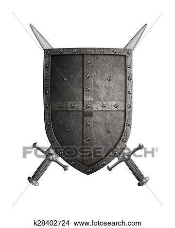 Clip Art of Empty Blank Shield k6983546 - Search Clipart ...