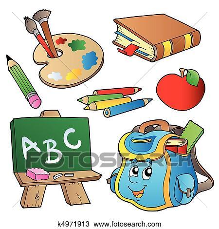 Clipart scuola cartoni animati collezione k4971913 for Scuola clipart