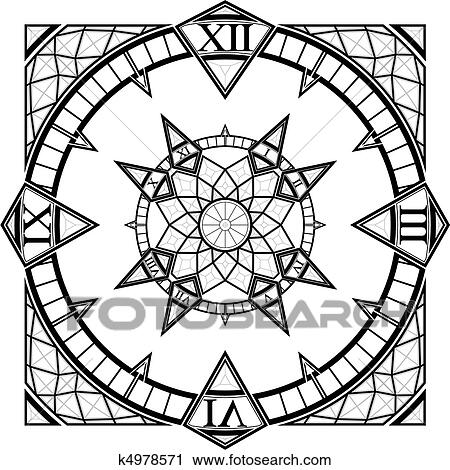 Clock Watch Drawing Clipart Clock Watch Gothic