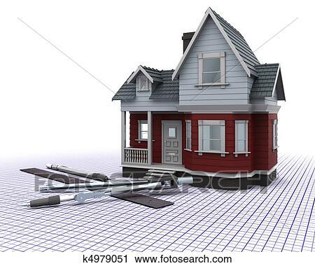 Clipart bois construction maison sur a grille for Dessins de construction de maison