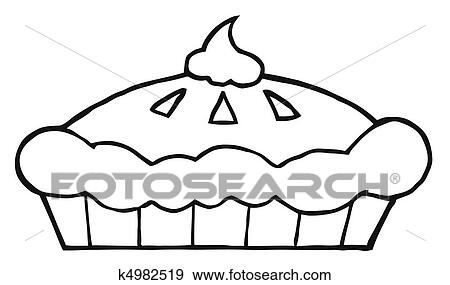 Clip Art of Outlined Thanksgiving Pie k4982519 Search Clipart