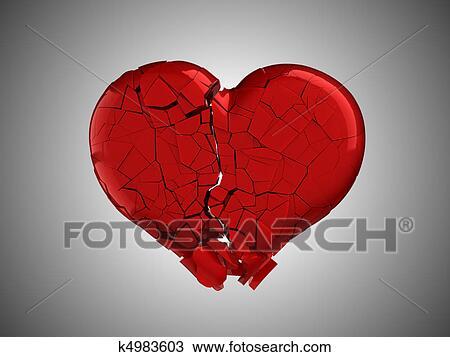 banque de photo mal et pain rouges coeur cass k4983603 recherchez des images des. Black Bedroom Furniture Sets. Home Design Ideas