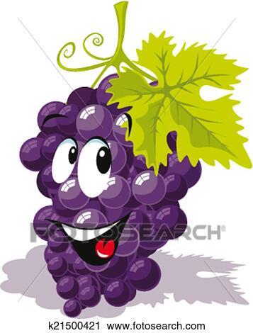 剪贴画 - 酒, 葡萄, 卡通漫画图片