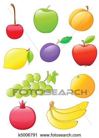 Clipart lucido frutta icone k5006791 cerca clipart for Clipart frutta